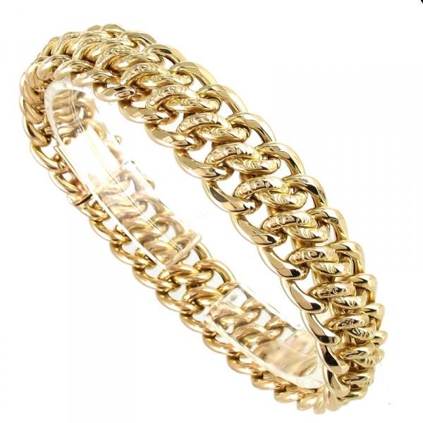 Bracelet en maille or