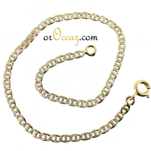 bijoux d occasion oroccaz bracelet maille marine bicolore. Black Bedroom Furniture Sets. Home Design Ideas