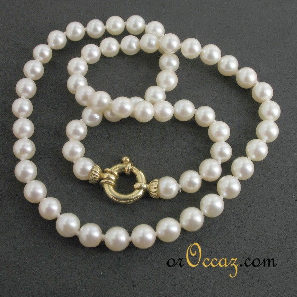 collier perle choker