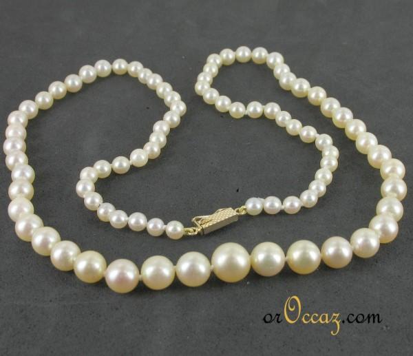 prix collier perle culture