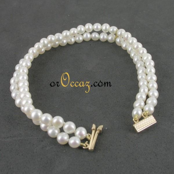 bijoux d occasion oroccaz bracelet perles de culture double rang. Black Bedroom Furniture Sets. Home Design Ideas