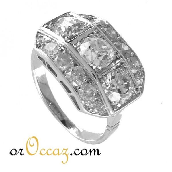 design de qualité 3f367 d566e BIJOUX D OCCASION-OROCCAZ: Bague diamants ancienne or et platine