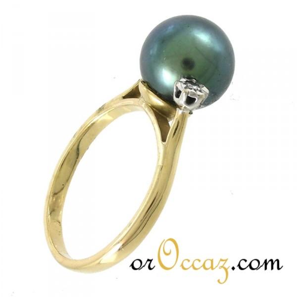 bijoux d occasion oroccaz bague perle de tahiti et diamants. Black Bedroom Furniture Sets. Home Design Ideas