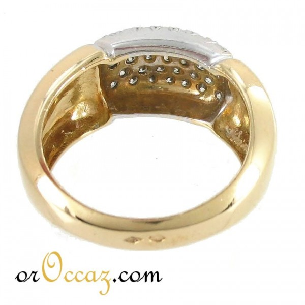 bijoux d occasion oroccaz bague pav diamants. Black Bedroom Furniture Sets. Home Design Ideas