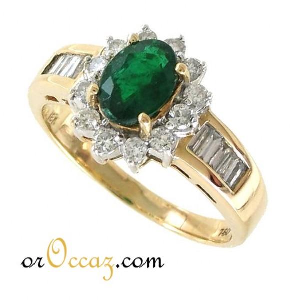 bague diamant emeraude occasion