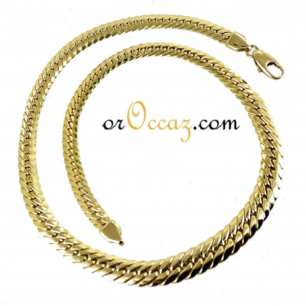 Collier maille anglaise en chute