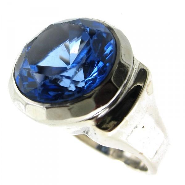 bijoux d occasion oroccaz bague argent pierre bleue. Black Bedroom Furniture Sets. Home Design Ideas