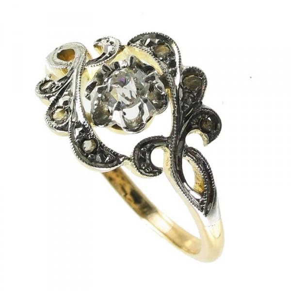 bijoux d occasion oroccaz bague ancienne diamants. Black Bedroom Furniture Sets. Home Design Ideas