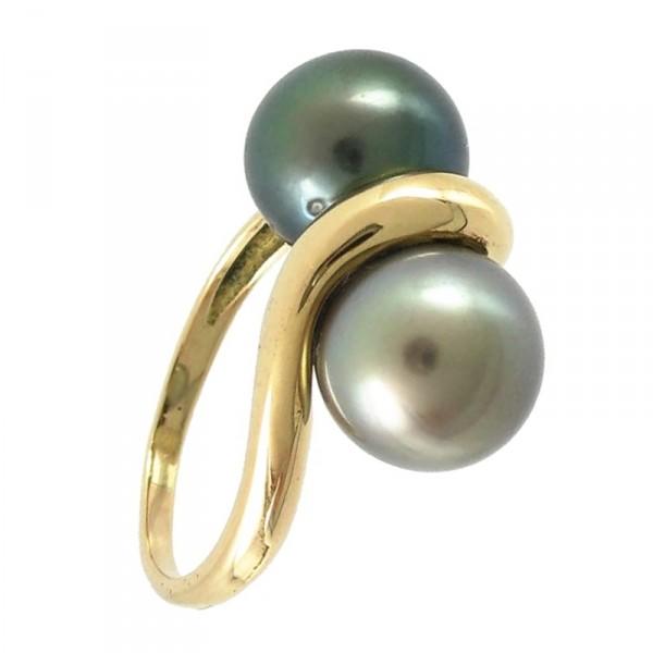 bijoux d occasion oroccaz bague perles de tahiti toi et moi. Black Bedroom Furniture Sets. Home Design Ideas