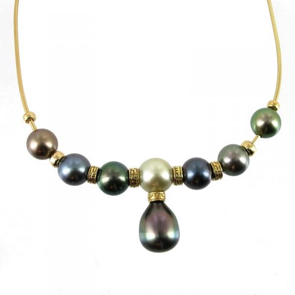 Bijoux D Occasion Oroccaz Collier Perles De Tahiti